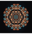 Ornamental round ethnic pattern vector image vector image