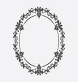oval vintage frame floral ornament vector image vector image
