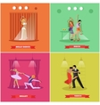 People dancing tango ballet disco and belly vector image vector image