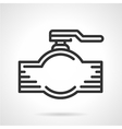 Pipe valve black line icon vector image vector image