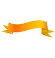 Realistic shiny orange ribbon isolated on white vector image vector image