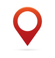 red map pointer icon marker gps location flag vector image