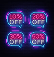 sale tags neon text tags neon sign vector image