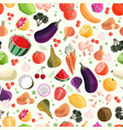 seamless pattern with colorful fruit vector image