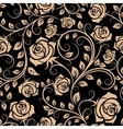 Seamless pattern with rose flowers vector image