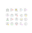 set line icons phishing vector image