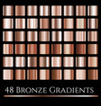 set of bronze gradientslarge squares vector image vector image