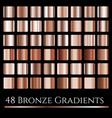 set of bronze gradientslarge squares vector image