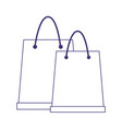 shopping paper bags ecommerce online concept line vector image vector image