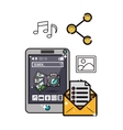 smartphone and app icons image vector image