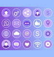 social network signs icons vector image