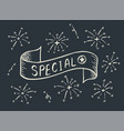 special banner hand drawn on dark background vector image vector image
