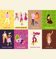 street fashion cards set vector image vector image