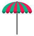 sun umbrella flat icon parasol beach umbrella vector image vector image