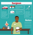surgeon and medical equipment icons vector image