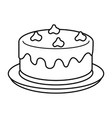 sweet cake with hearts love vector image