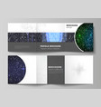 the minimal layout of two square format vector image vector image