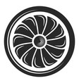 turbine black icon environment and industry vector image