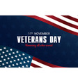 veterans day honoring all who served november vector image vector image