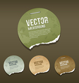 Vintage Ripped label circle paper design vector image