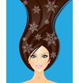 winter woman vector image