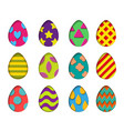 isolated eggs set in paper cut style for vector image