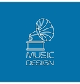 Music design with gramophone vector image