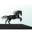 Black horse polygonal geometric pattern design vector image