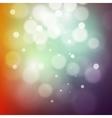Colorful bokeh light Vintage background Vecor vector image