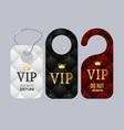 vip door labels set do not disturb vector image