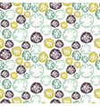 Abstract grunge seamless pattern with snowflakes vector image