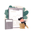 accounting abstract concept vector image vector image