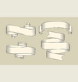antique papyrus ribbons or old curled scrolls vector image vector image