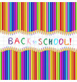 back to school sketchy inscription on notebook vector image vector image