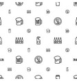 beer icons pattern seamless white background vector image vector image