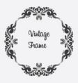 black square vintage frame floral ornament vector image vector image