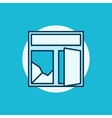 Broken window colorful icon vector image