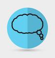 cloud speech icon vector image