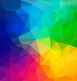 color full rainbow spectrum polygon triangular vector image vector image