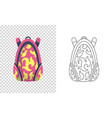 colorful backpack pupil kids school bag vector image vector image