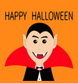 count dracula head face wearing black and red vector image vector image