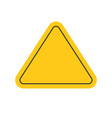 danger or caution risk triangle road sign yellow vector image vector image