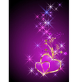 Decorative hearts and stars vector image
