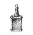 design blank vintage whisky bottle cork cap vector image vector image