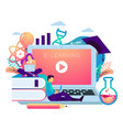 e learning concept student sitting vector image