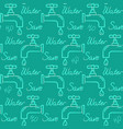 ecology seamless pattern with save water text vector image vector image