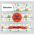 Education School and Science Template Banners Set vector image
