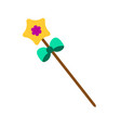 fairy magic wand isolated icon kids toy vector image