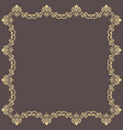 floral fine frame vector image vector image