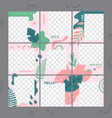 floral puzzle template social media photo frames vector image vector image